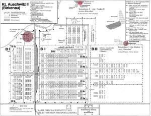 Auschwitz II (Birkenau) - Lagerplan 1942