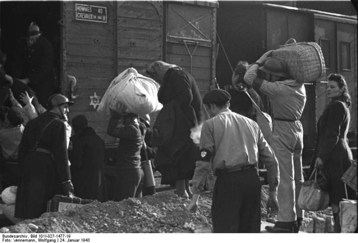 Marseille, Gare d'Arenc. Deportation von Juden
